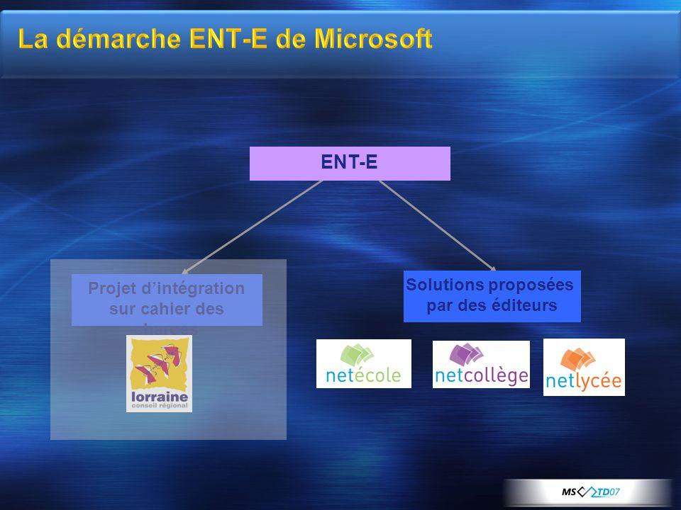 La démarche ENT-E de Microsoft