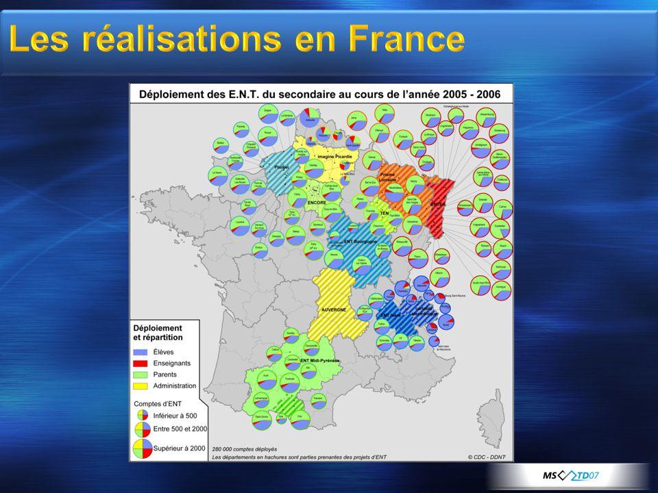Les réalisations en France