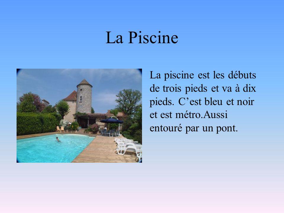 La Piscine La piscine est les débuts de trois pieds et va à dix pieds.