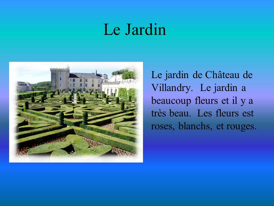 Le Jardin Le jardin de Château de Villandry. Le jardin a beaucoup fleurs et il y a très beau.