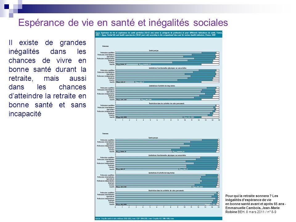Espérance de vie en santé et inégalités sociales