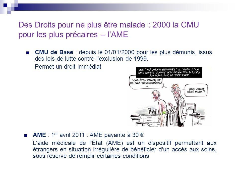 Des Droits pour ne plus être malade : 2000 la CMU pour les plus précaires – l'AME