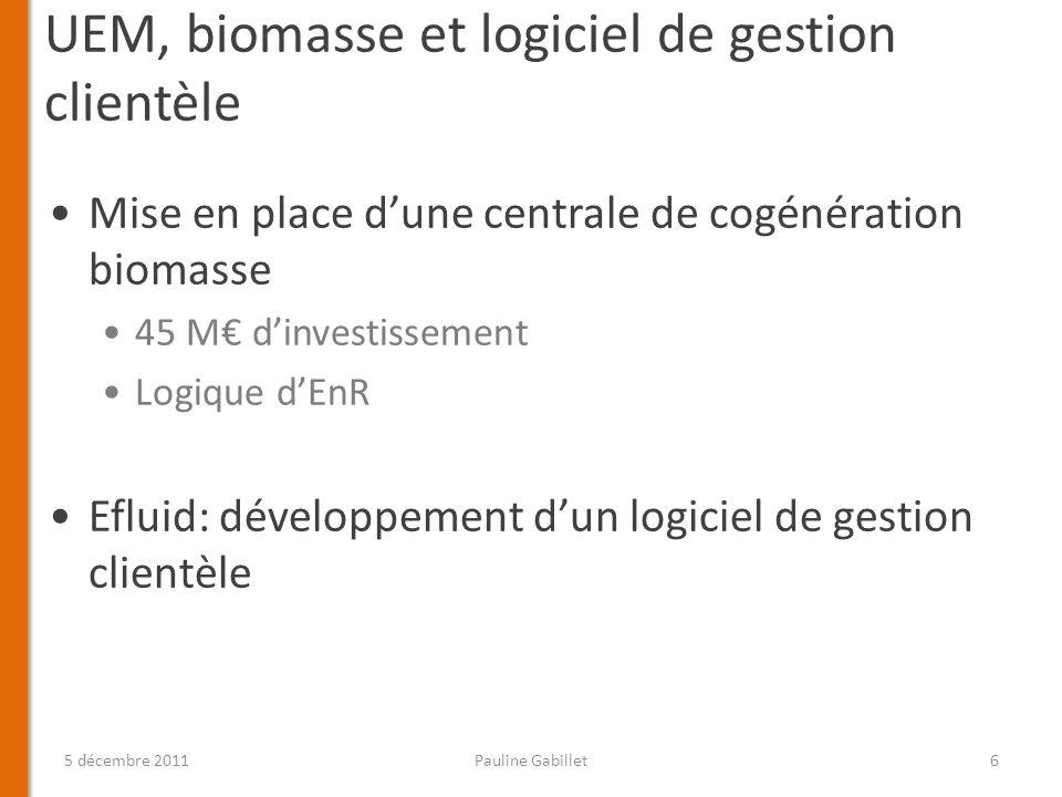 UEM, biomasse et logiciel de gestion clientèle