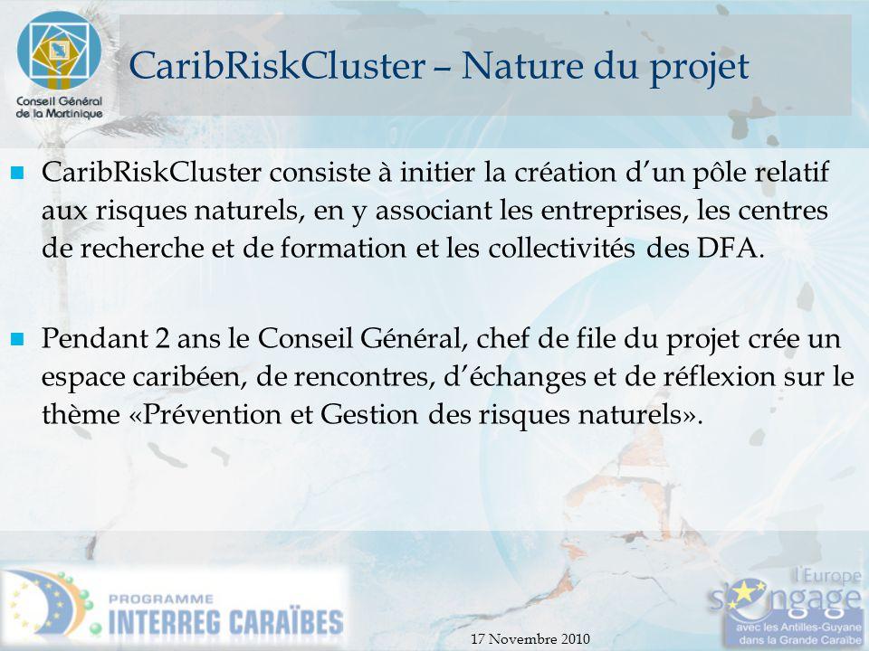 CaribRiskCluster – Nature du projet