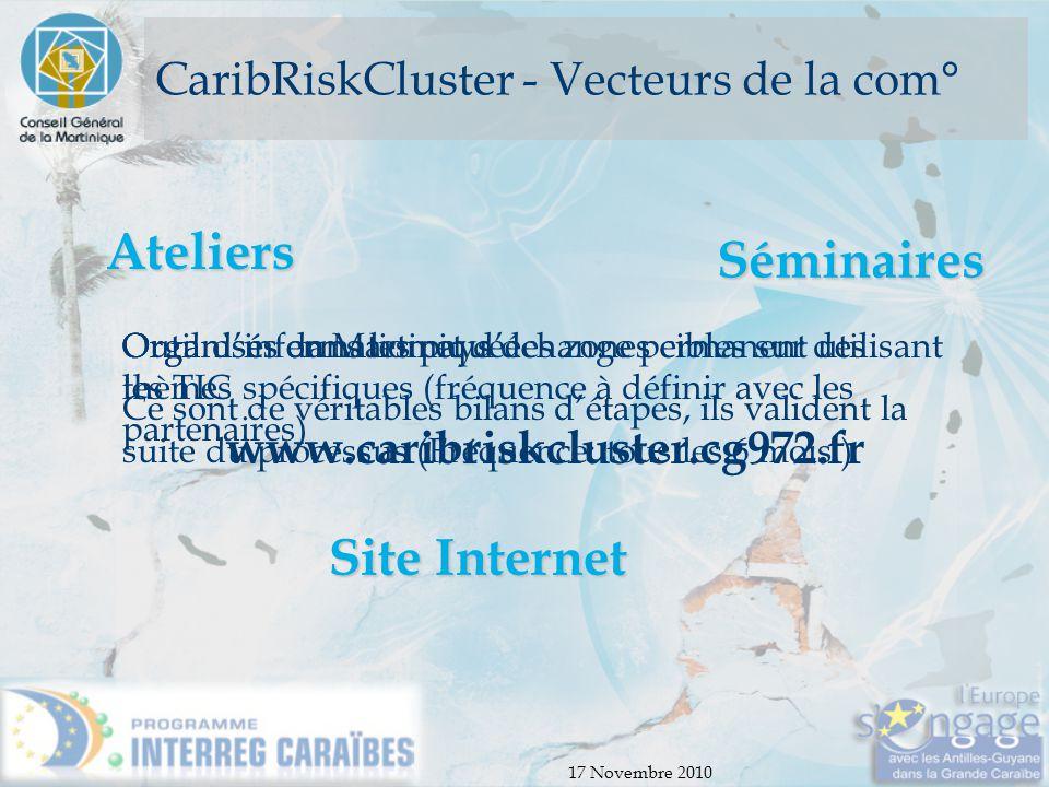 CaribRiskCluster - Vecteurs de la com°