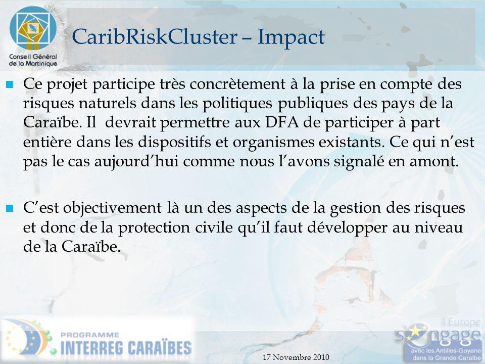 CaribRiskCluster – Impact