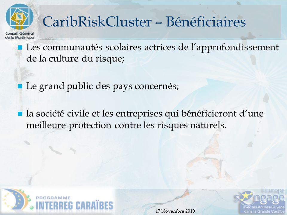 CaribRiskCluster – Bénéficiaires