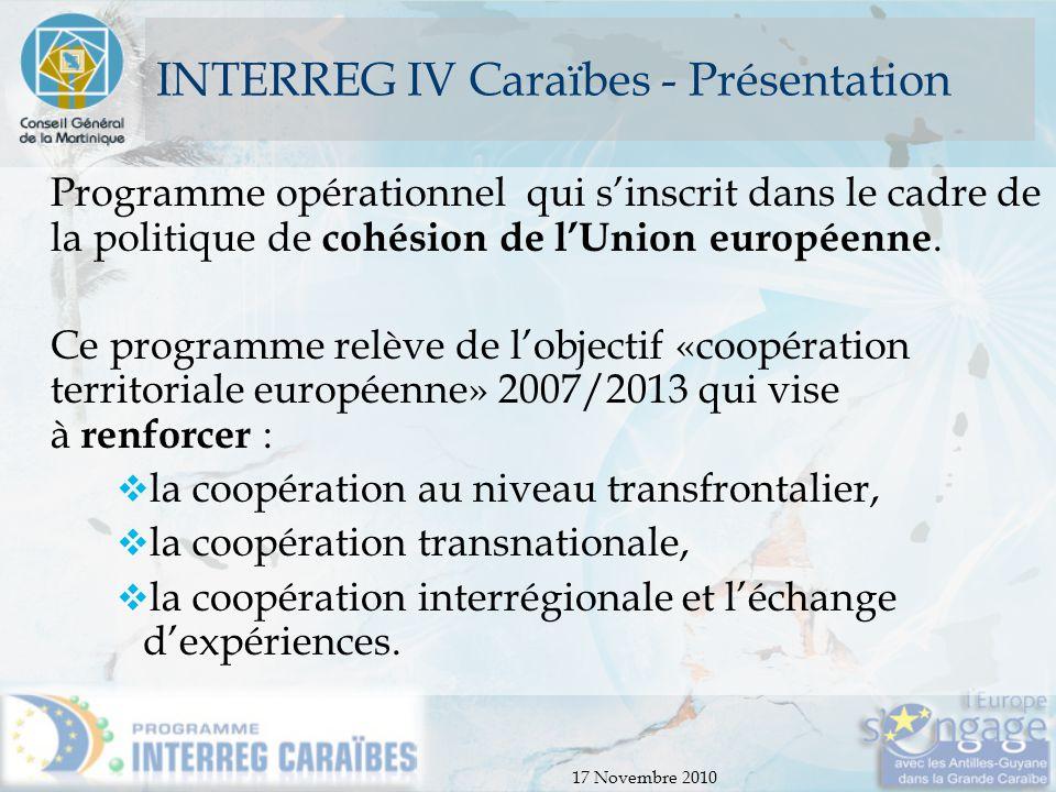 INTERREG IV Caraïbes - Présentation