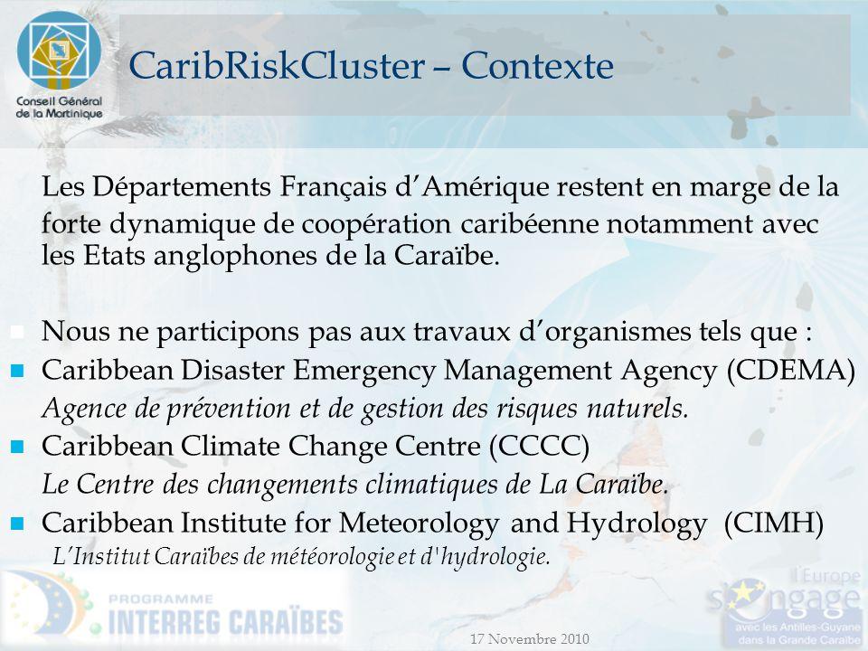 CaribRiskCluster – Contexte