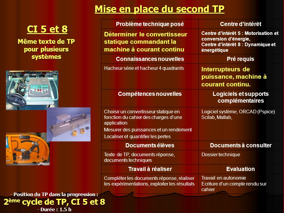 Mise en place du second TP CI 5 et 8