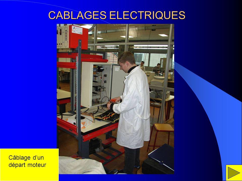 CABLAGES ELECTRIQUES Câblage d'un départ moteur