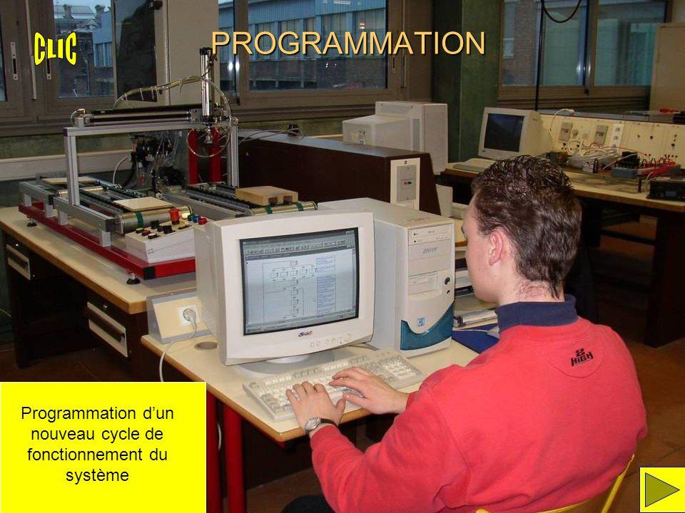 Programmation d'un nouveau cycle de fonctionnement du système