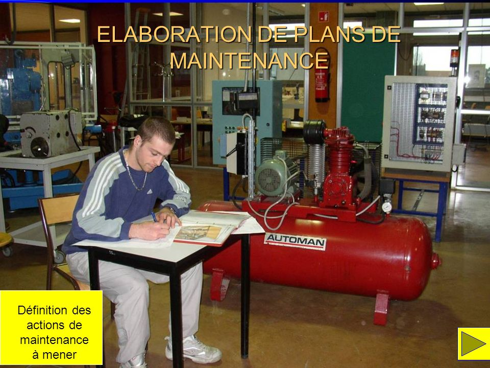 ELABORATION DE PLANS DE MAINTENANCE