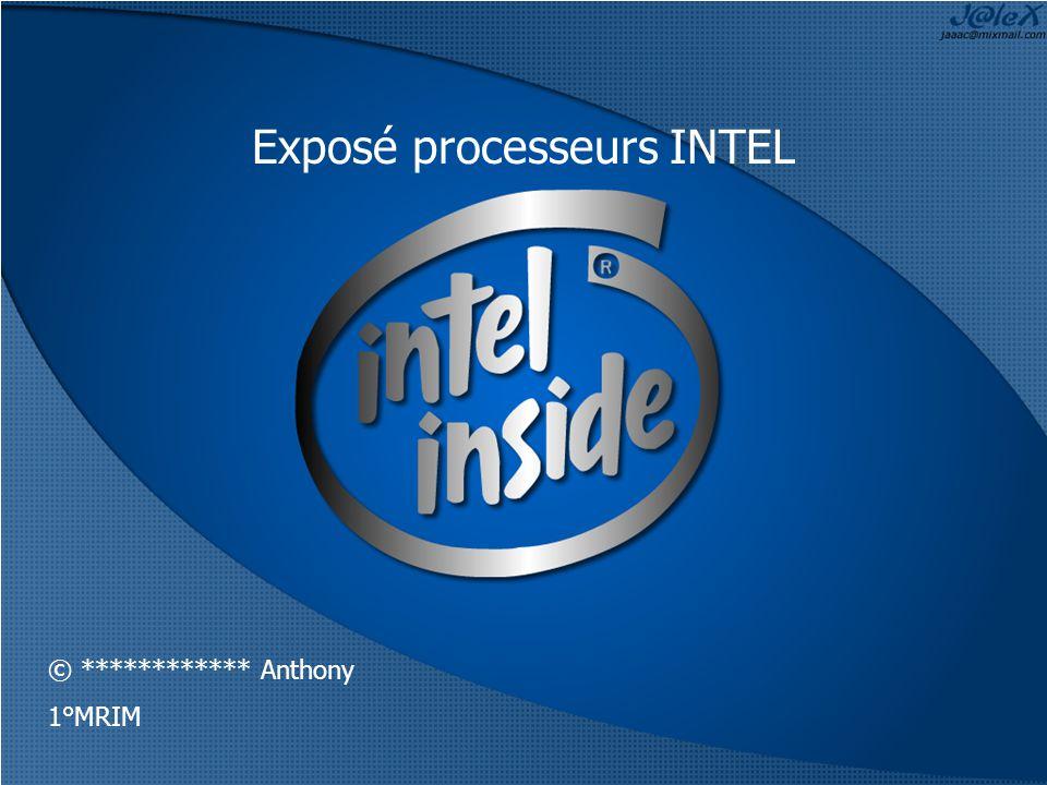 Exposé processeurs INTEL