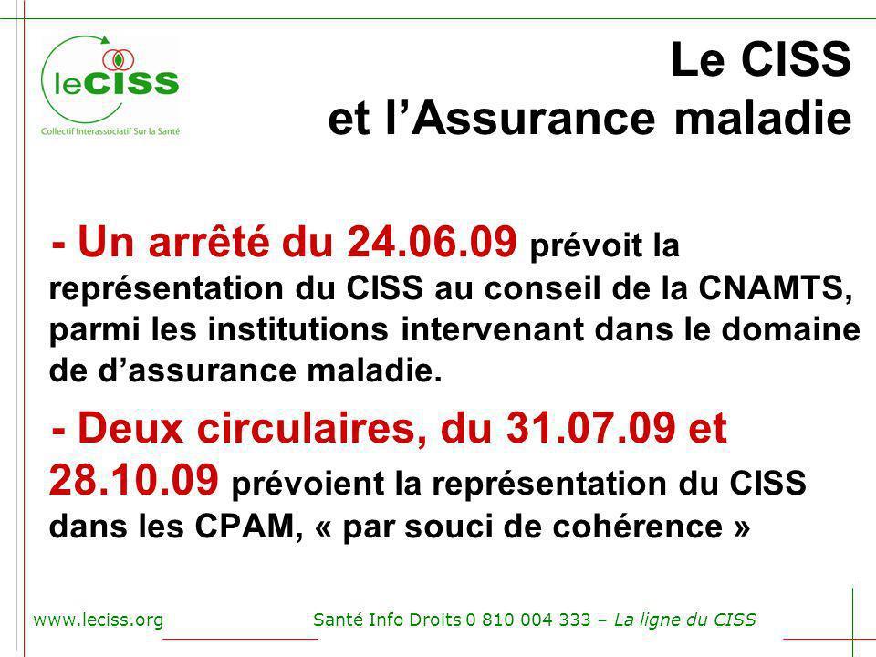 Le CISS et l'Assurance maladie