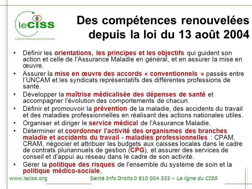 Des compétences renouvelées depuis la loi du 13 août 2004