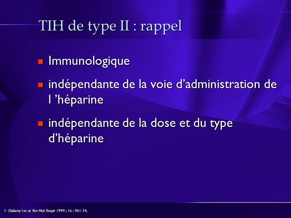 TIH de type II : rappel Immunologique