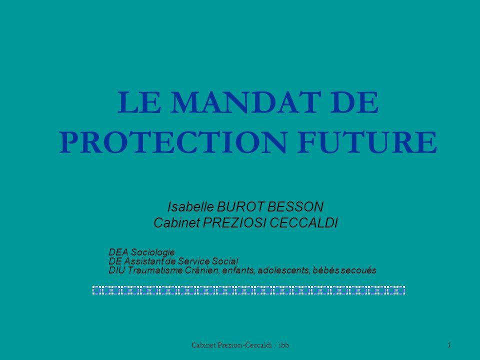 LE MANDAT DE PROTECTION FUTURE