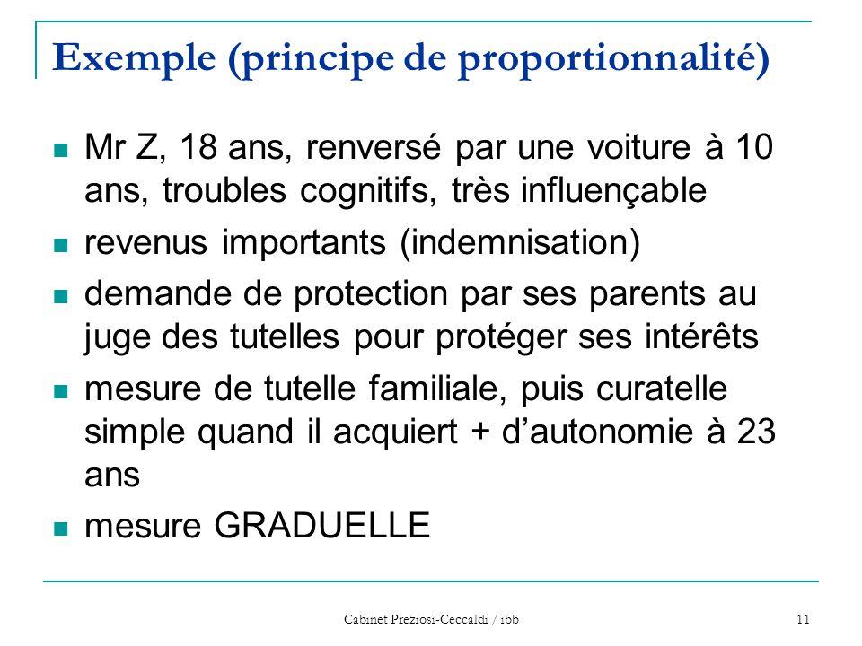 Exemple (principe de proportionnalité)
