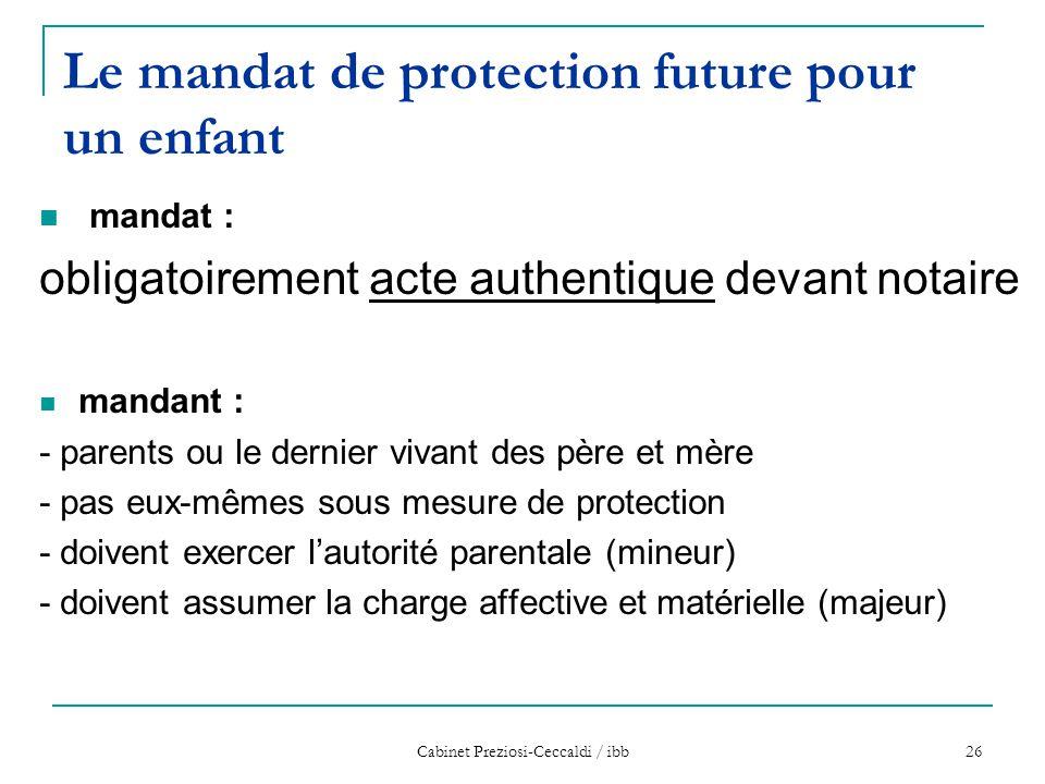 Le mandat de protection future pour un enfant