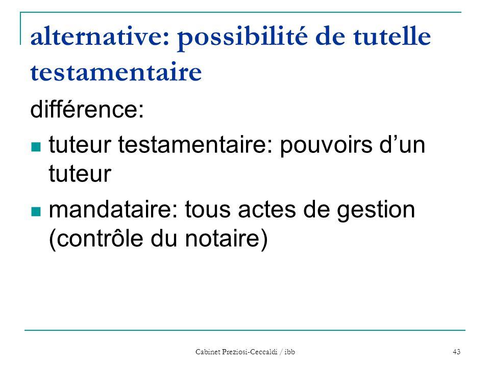alternative: possibilité de tutelle testamentaire