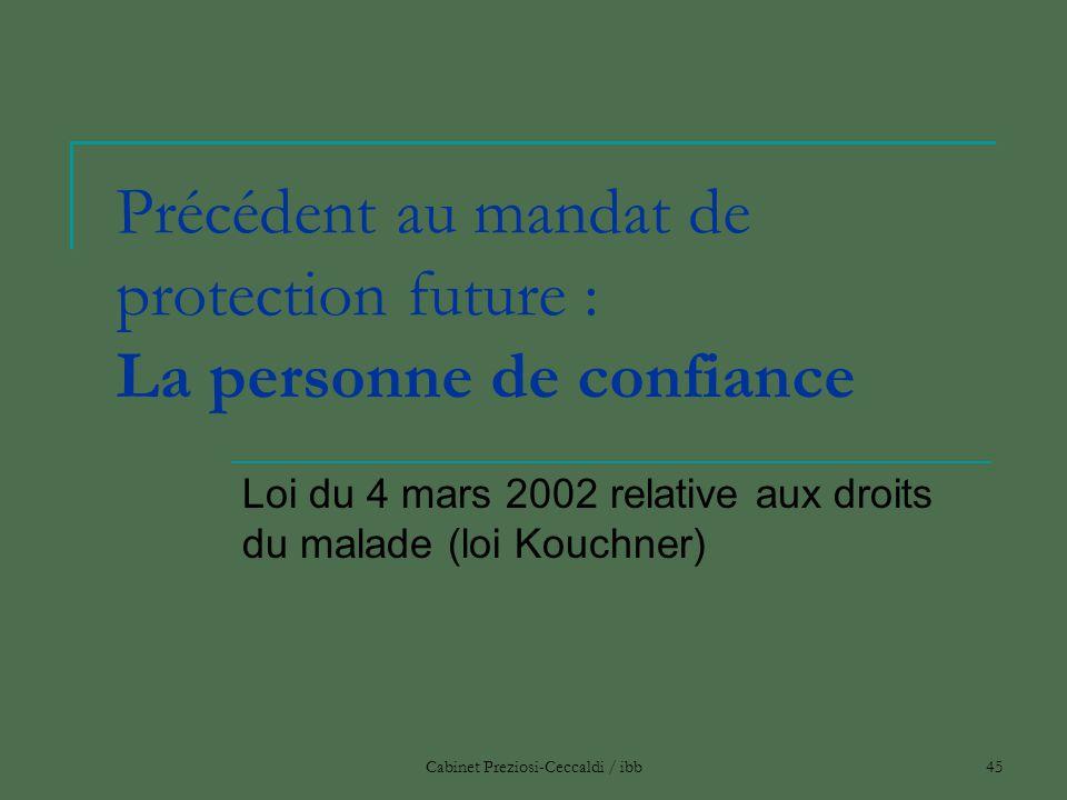 Précédent au mandat de protection future : La personne de confiance