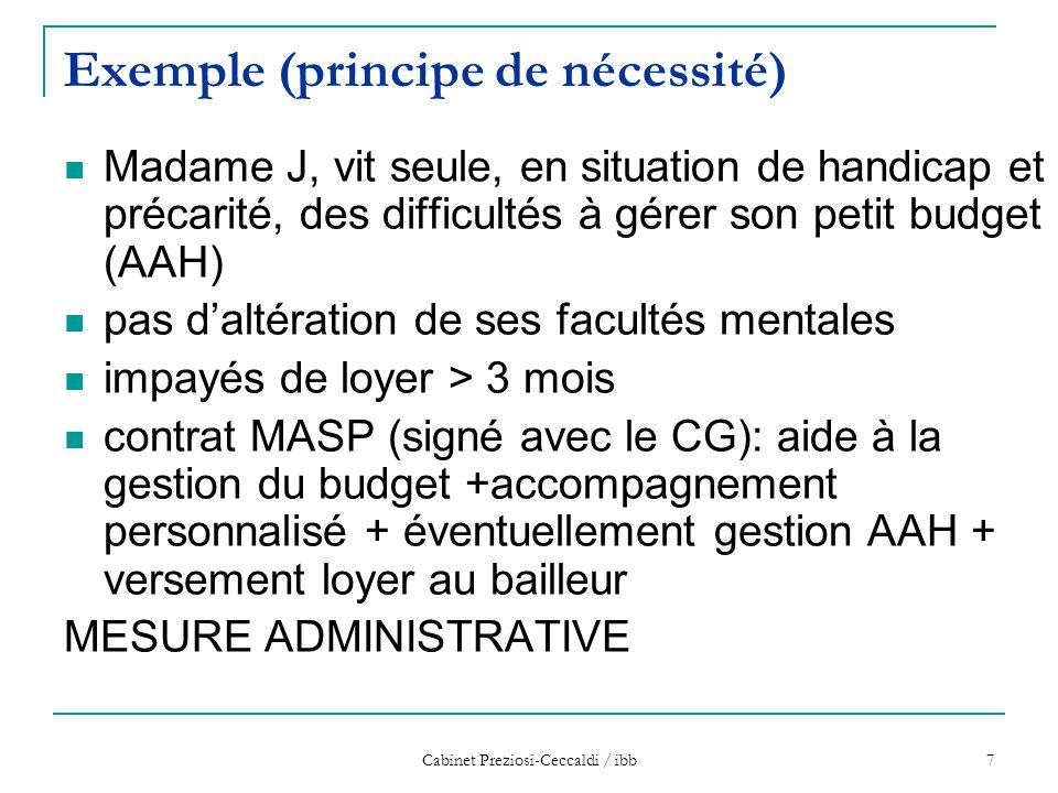 Exemple (principe de nécessité)