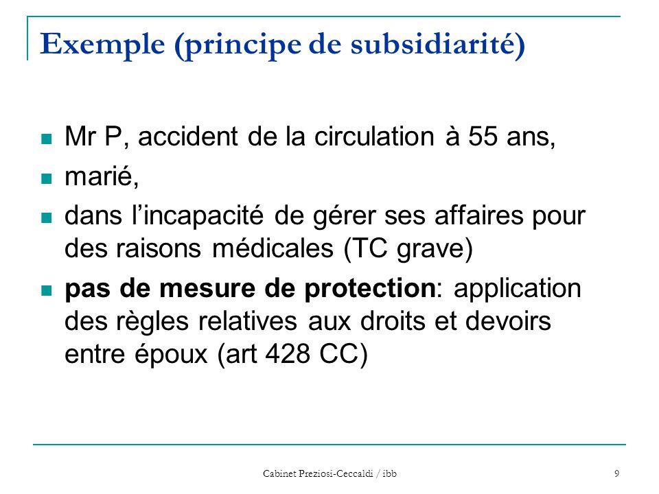 Exemple (principe de subsidiarité)