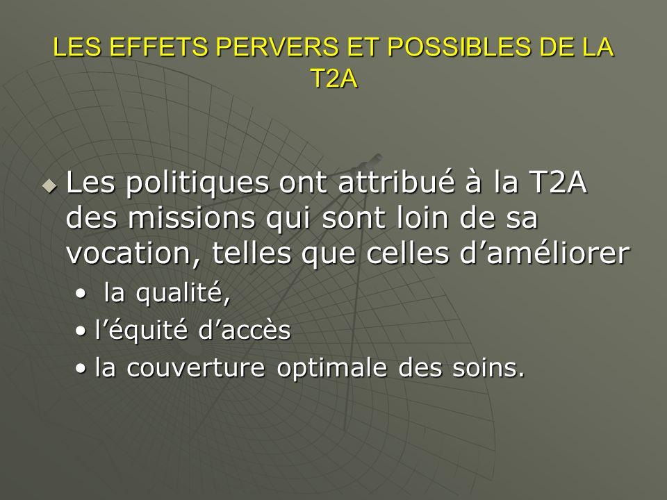 LES EFFETS PERVERS ET POSSIBLES DE LA T2A
