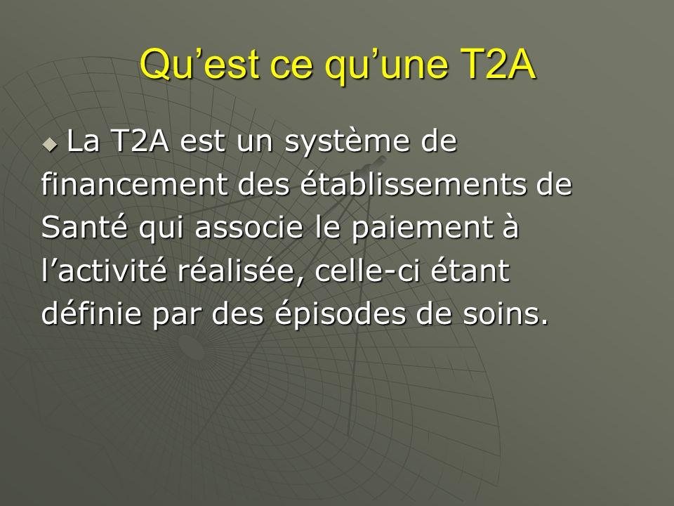 Qu'est ce qu'une T2A La T2A est un système de