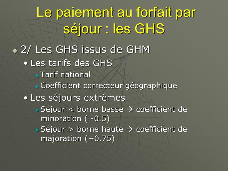 Le paiement au forfait par séjour : les GHS
