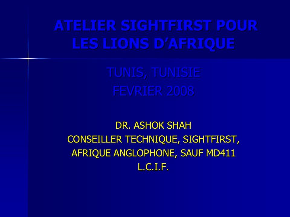 ATELIER SIGHTFIRST POUR LES LIONS D'AFRIQUE