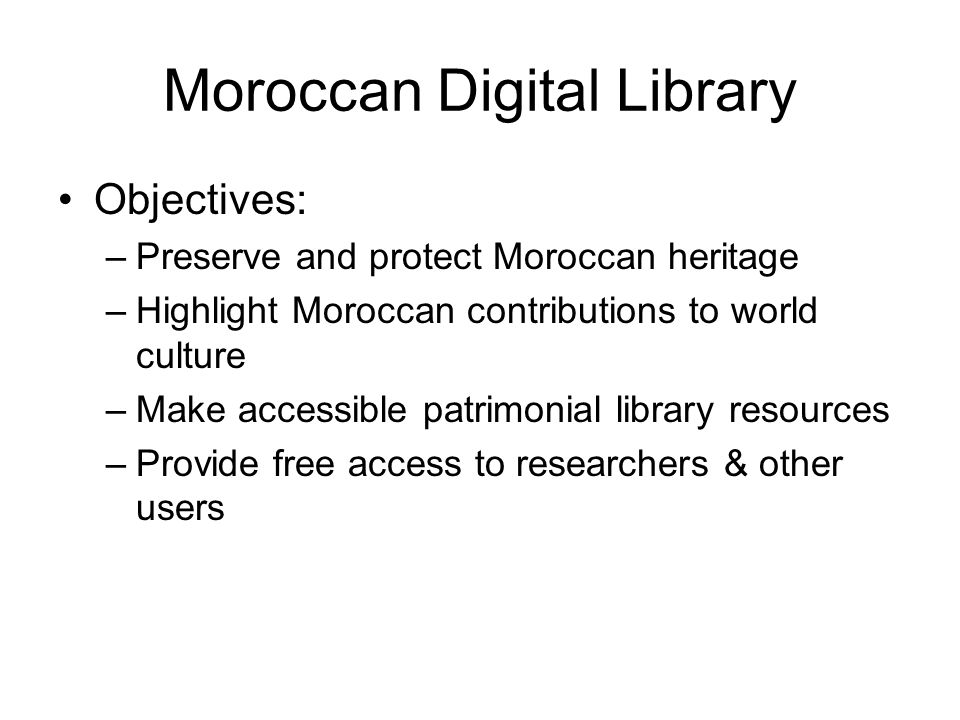 Moroccan Digital Library