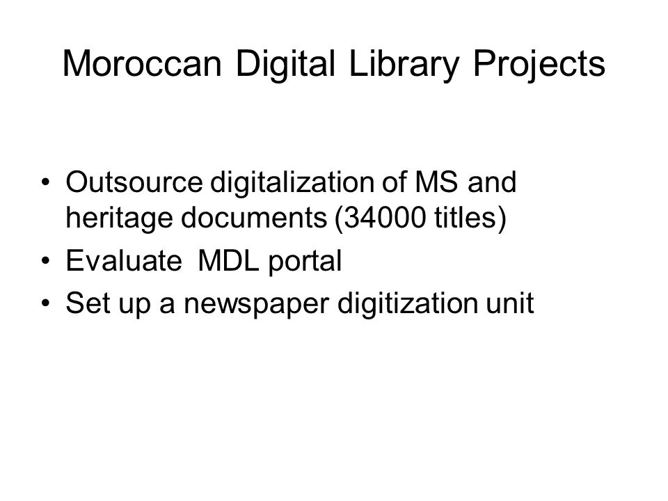 Moroccan Digital Library Projects