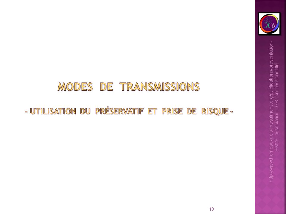 modes de transmissions - utilisation du préservatif et prise de risque -