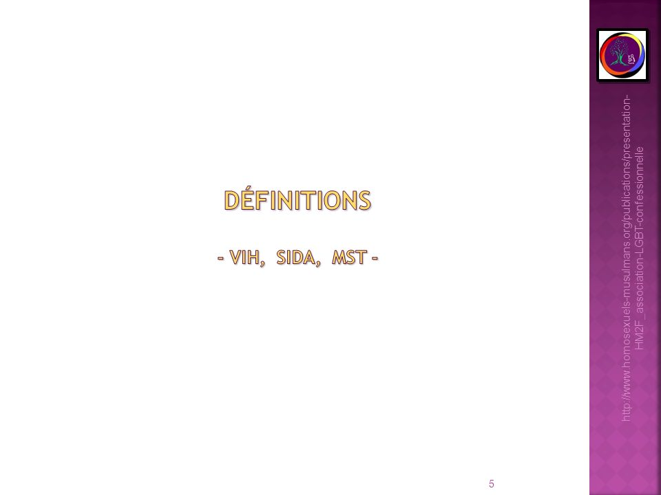 définitions - VIH, Sida, MST -