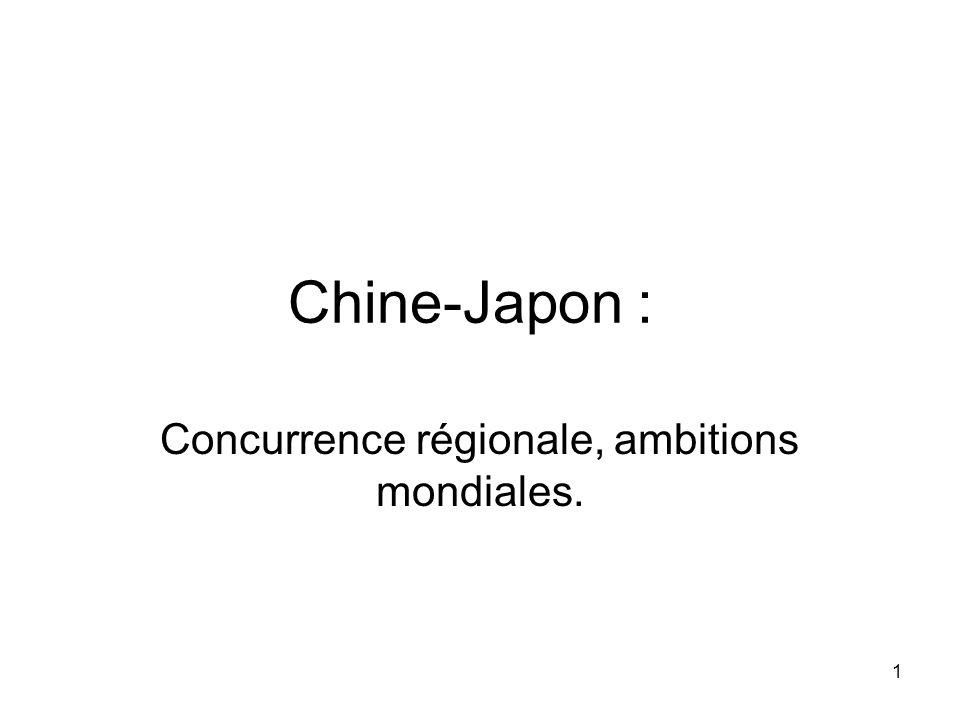 Concurrence régionale, ambitions mondiales.