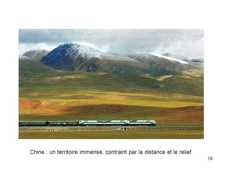 Chine : un territoire immense, contraint par la distance et le relief