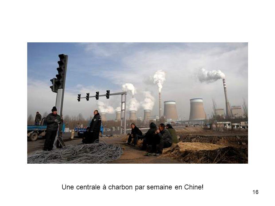 Une centrale à charbon par semaine en Chine!