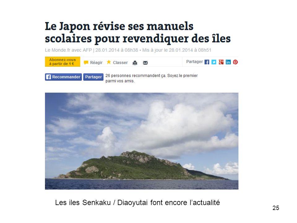 Les iles Senkaku / Diaoyutai font encore l'actualité