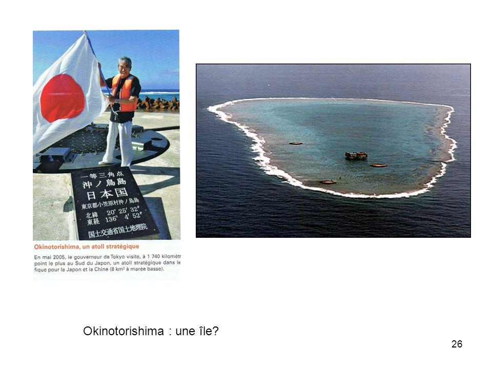 Okinotorishima : une île