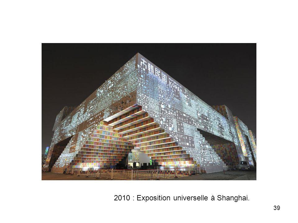 2010 : Exposition universelle à Shanghai.