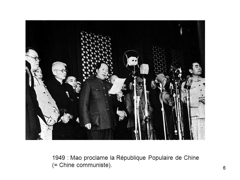 1949 : Mao proclame la République Populaire de Chine