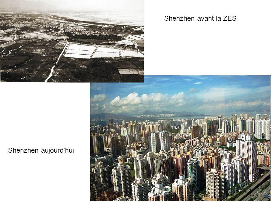 Shenzhen avant la ZES Shenzhen aujourd'hui