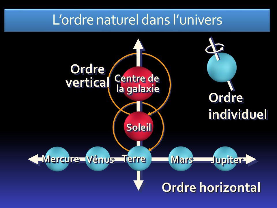 L'ordre naturel dans l'univers