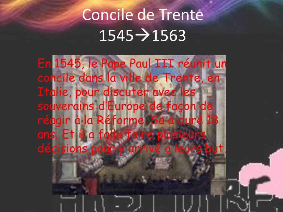 Concile de Trente 15451563