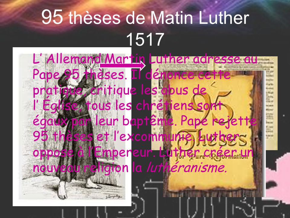 95 thèses de Matin Luther 1517