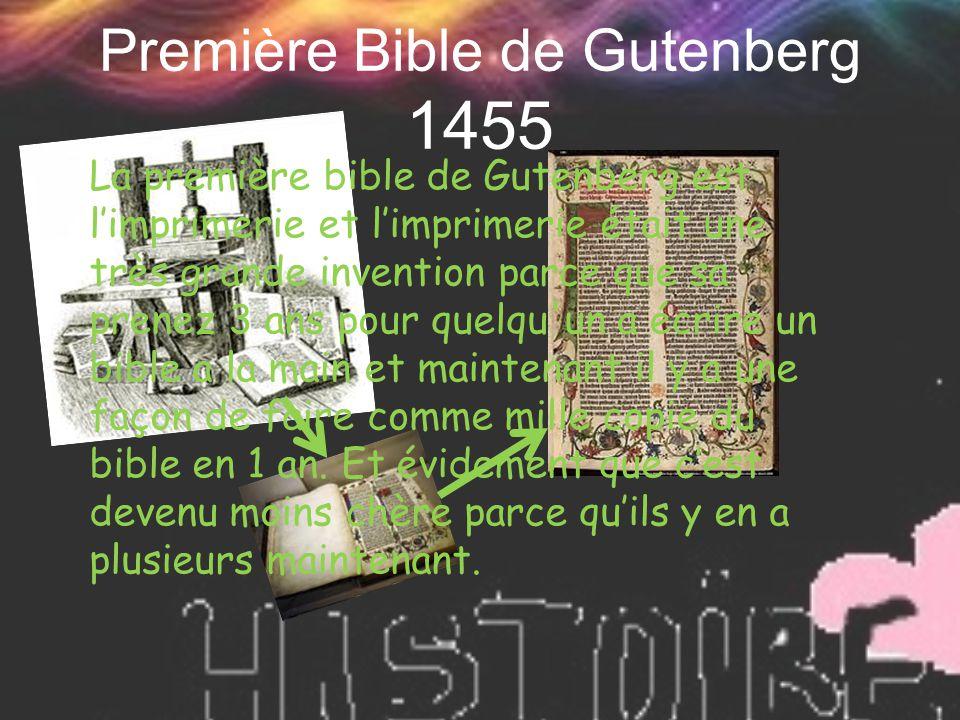 Première Bible de Gutenberg 1455