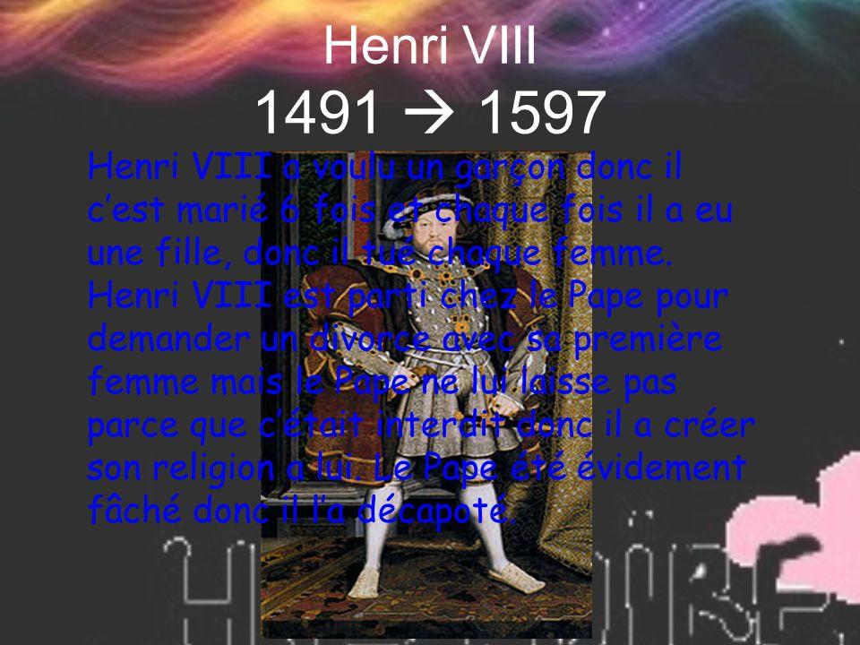 Henri VIII 1491  1597
