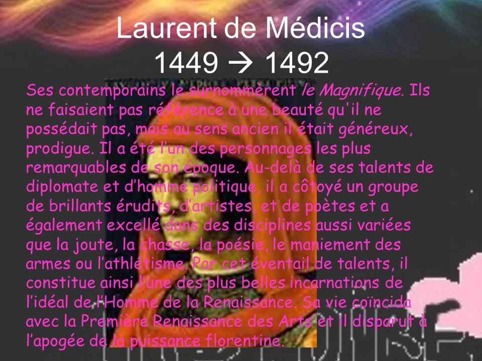 Laurent de Médicis 1449  1492